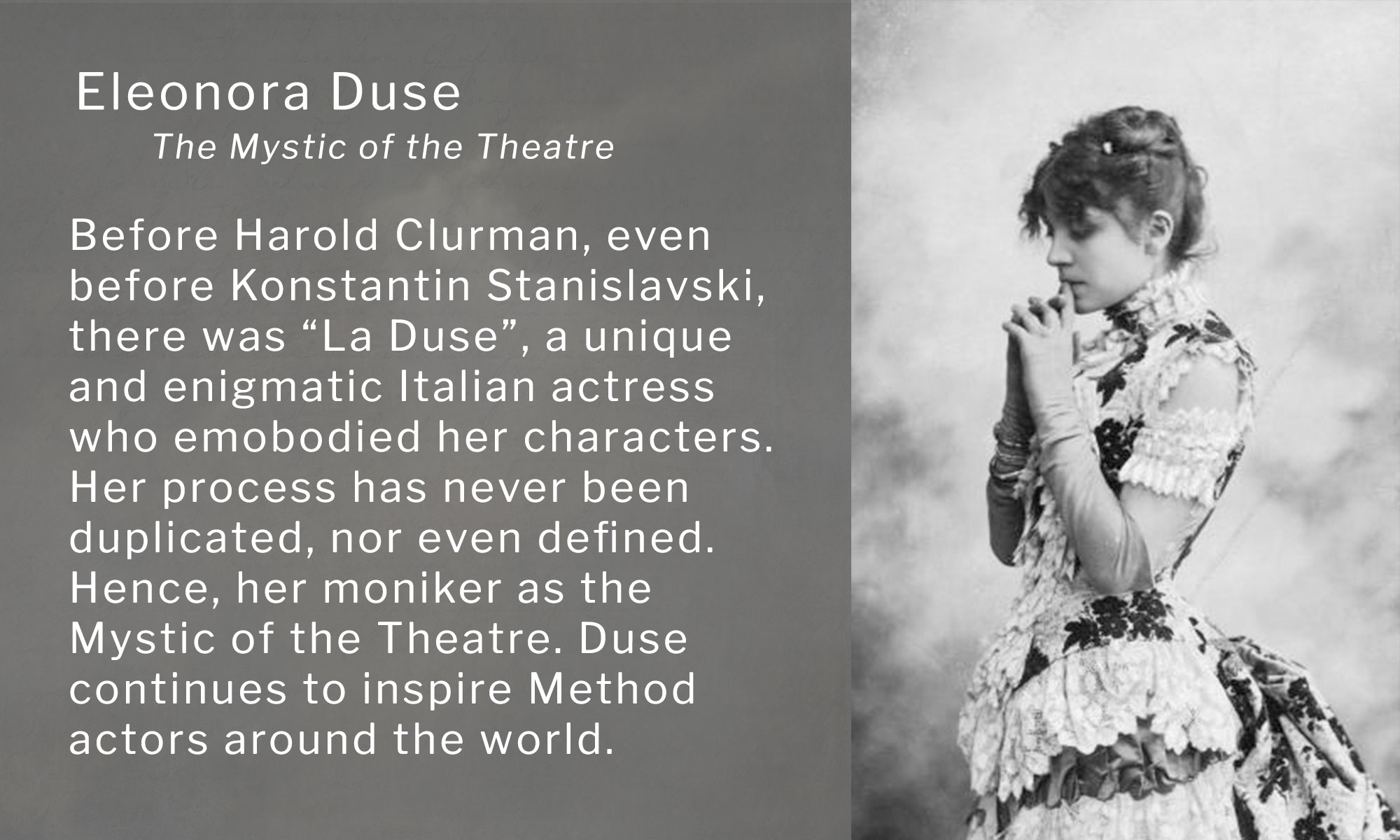Stanislavski Method Acting Technique image of Eleonora Duse